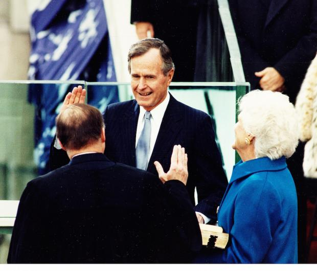 The 1988 inauguration of President George H. W. Bush. Image courtesy of the National Archives.