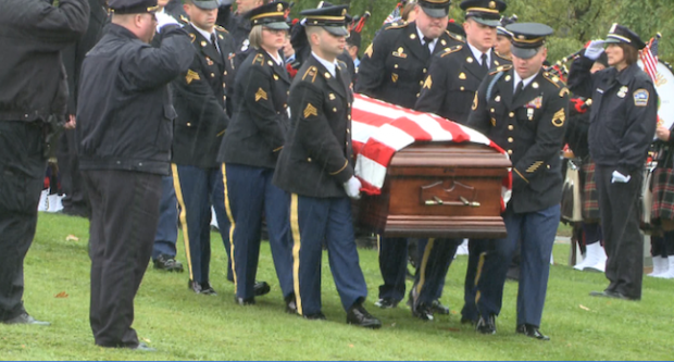 Officer Craig Lehner's funeral procession. Image courtesy of WGRZ-TV.