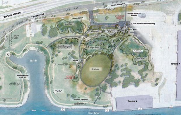 New ECHDC Plan for the South End of the Outer Harbor