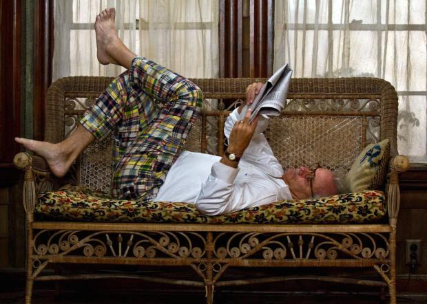 Bill Murray personifies the luxury of reading in Moonrise Kingdom.