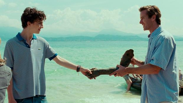 Timothée Chalamet and Michael Stuhlbarg in Call Me by Your Name.