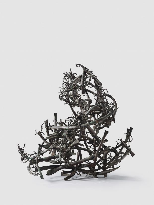 Claire Falkenstein, Turnabout, ca. 1964. Copper. University at Buffalo Art Galleries. Gift of the David K. Anderson Family.