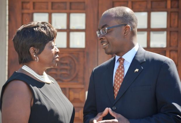 Political allies and friends take turns on opposite sides of this weeks Ups and Downs (Assemblywoman Crystal Peoples-Stokes and city CEO Byron Brown)
