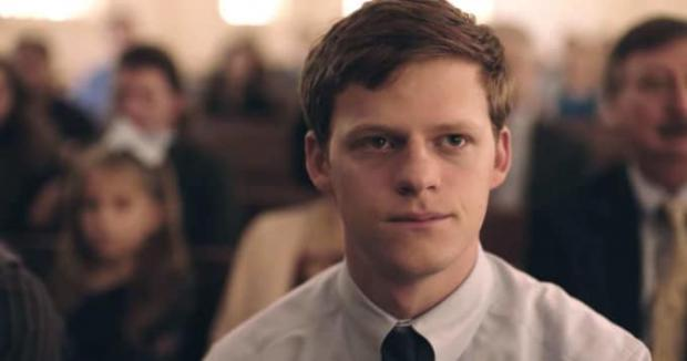 Lucas Hedges in Boy Erased.