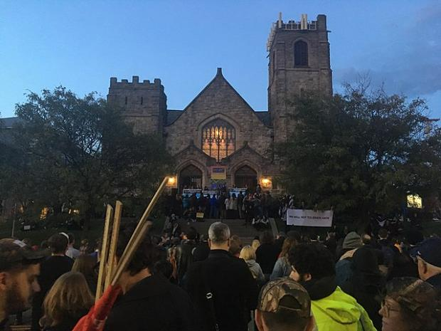 A vigil held in the Squirrel Hill neighborhood this week.