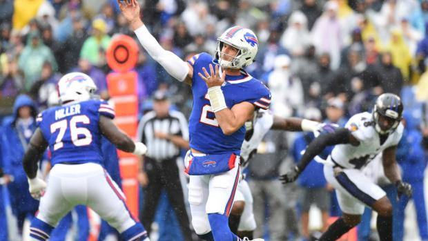 Buffalo Bills quarterback Nathan Peterman in last Sunday's game against Baltimore. Photo courtesy buffalobills.com.