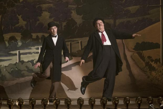 Steve Coogan and John C. Reilly as Stan and Ollie.