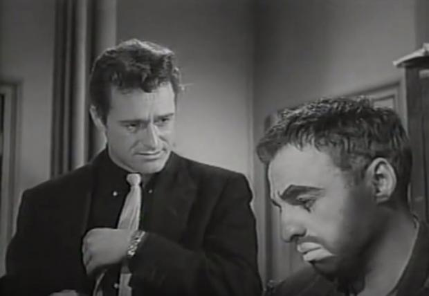 Dick Miller (left) in Carnival Rock.