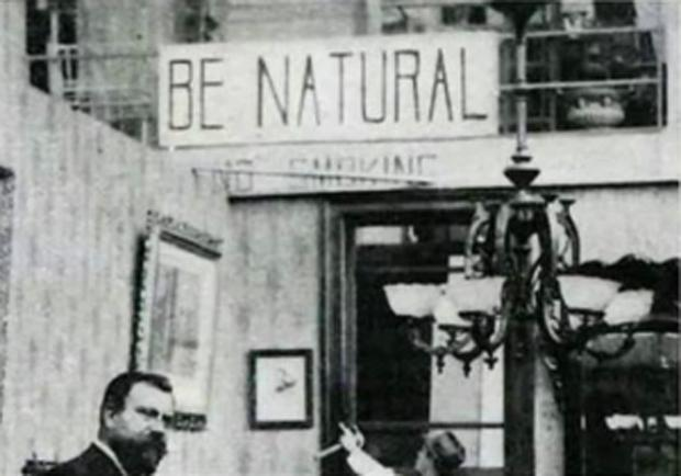 A sign advising actors provides the title of the documentary Be Natural: The Untold Story of Alice Guy-Blaché, playing this weekend at the Screening Room.