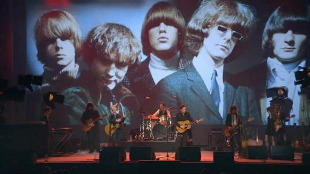 The Byrds look over their tribute concert in Echo in the Canyon.