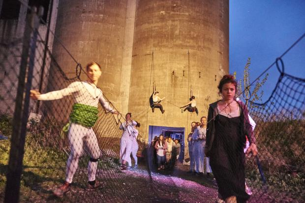 Intdeterminacy Festival co-founder Stanzi Vaubel, right, at last year's Indeterminacy Festival at Silo City.