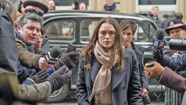 Keira Knightley as whistleblower Katharine Gun in Official Secrets.